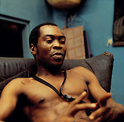 Fela Kuti at home in Lagos 1978
