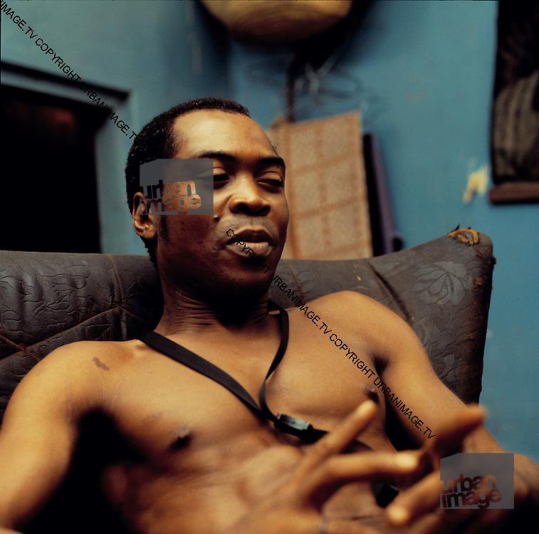 Fela Kuti at home in Lagos 1978
