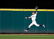 Seattle Mariners center fielder Ichiro Suzuki catches a ball hit by Boston Red Sox's J.D. Drew during the 11th inning of their baseball game at Safeco Field in Seattle. The Mariners won 2-1 in 11 innings.