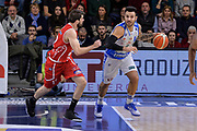 DESCRIZIONE : Sassari LegaBasket Serie A 2015-2016 Dinamo Banco di Sardegna Sassari - Giorgio Tesi Group Pistoia<br /> GIOCATORE : Brian Sacchetti<br /> CATEGORIA : Palleggio Contropiede<br /> SQUADRA : Dinamo Banco di Sardegna Sassari<br /> EVENTO : LegaBasket Serie A 2015-2016<br /> GARA : Dinamo Banco di Sardegna Sassari - Giorgio Tesi Group Pistoia<br /> DATA : 27/12/2015<br /> SPORT : Pallacanestro<br /> AUTORE : Agenzia Ciamillo-Castoria/L.Canu