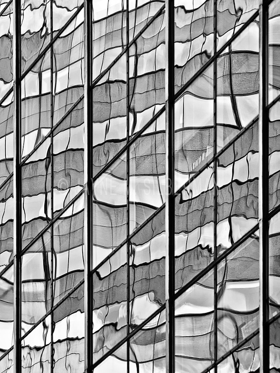 Abstract of window reflections in NYC.