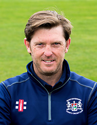 Assistant Head coach for Gloucestershire CCC Ian Harvey pose for a headshot - Mandatory by-line: Robbie Stephenson/JMP - 04/04/2016 - CRICKET - Bristol County Ground - Bristol, United Kingdom - Gloucestershire  - Gloucestershire Media Day