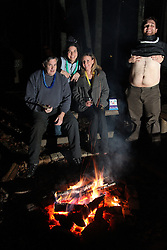 2011 NYE celebration with Mary Mannic, Lisa Marie Miller, David Coyle, Derek Poore, Saturday, Dec. 31, 2011 at Wilderness Cabins in Slade.