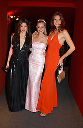 "Left to right, PRINCESS TAMARA CZARTORYSKI-BOURBON , MISS ANOUSHKA DE GEORGIOU and MISS HENRIETTA DUPS at the 10th annual British Red Cross London Ball.  This years ball theme was Indian based - ""Yaksha - Yakshi: Doorkeepers to the Divine"" and was held at The Room, Upper Ground, London on 1st December 2004.  Proceeds from the ball will aid vital humanitarian work, including HIV/AIDS projects that the Red Cross supports in the UK and overseas.<br />