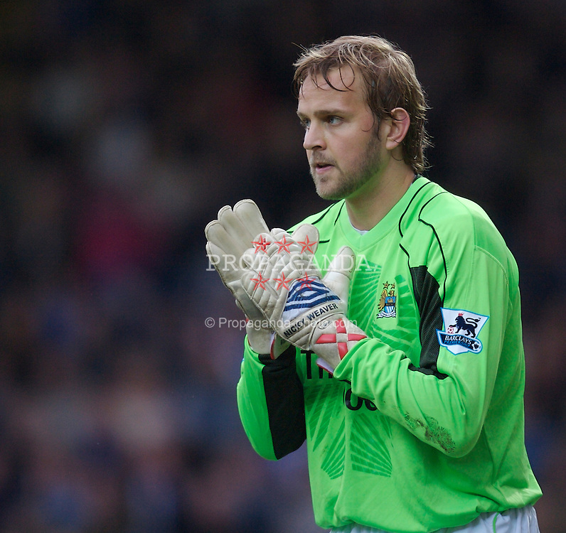 Blackburn, England - Sunday, March 11, 2007: Manchester City's goalkeeper Nicky Weaver in action against Blackburn Rovers during the FA Cup Quarter Final at Ewood Park. (Pic by David Rawcliffe/Propaganda)