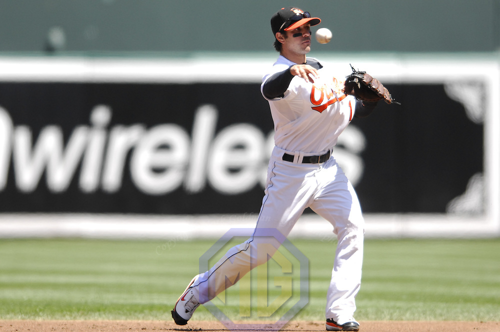 07 May 2007:  Baltimore Orioles second baseman Brian Roberts (1) in action against the Cleveland Indians.  The Indians defeated the Orioles 10-1 at Camden Yards in Baltimore, MD.   ****For Editorial Use Only****
