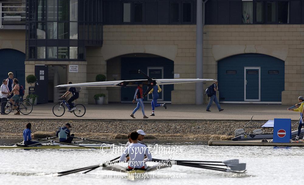 2005 FISA World Cup, Dorney Lake, Eton, ENGLAND, 26.05.05.  GV's Boathouse.. Photo  Peter Spurrier. .email images@intersport-images[Mandatory Credit Peter Spurrier/ Intersport Images] , Rowing Courses, Dorney Lake, Eton. ENGLAND , Eton College Boathouse