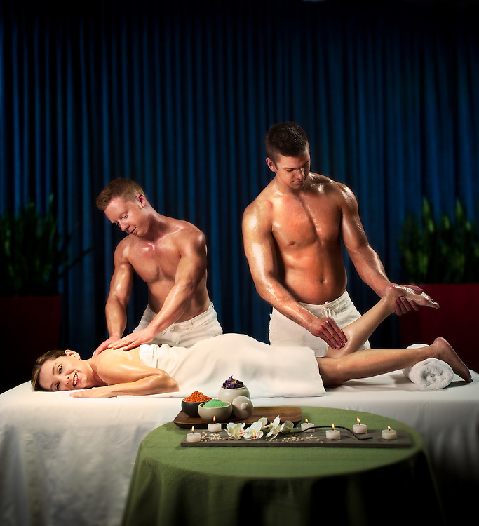 Ultimate Massage, shot for the &quot;Living the Life&quot;, advertising campaign for Seisware. <br /> Client: Seisware<br /> Agency: SAW Communications<br /> Art Director: Jonathan Barnes<br /> Stylist: Judith Aldama<br /> Hair &amp; Makeup: Teslin Ward<br /> Photographer: Brett Gilmour