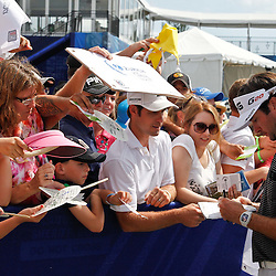Apr 29, 2012; Avondale, LA, USA; Fans gather for autographs from Bubba Watson after he completed the final round of the Zurich Classic of New Orleans at TPC Louisiana. Mandatory Credit: Derick E. Hingle-US PRESSWIRE