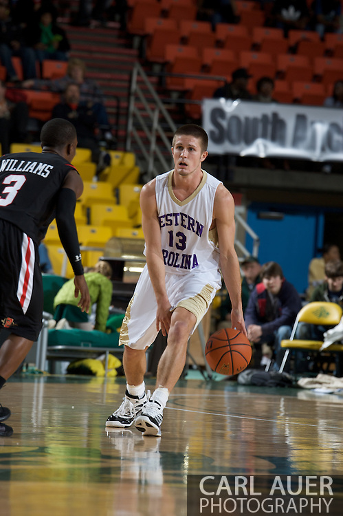 November 27, 2008: Western Carolina guard Brigham Waginger (13) brings the ball up the court against San Diego State's Richie Williams (3) in the final game in the opening round of the 2008 Great Alaska Shootout at the Sullivan Arena
