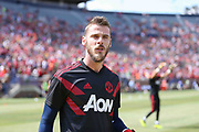 Manchester United Goalkeeper David De Gea during the Manchester United and Liverpool International Champions Cup match at the Michigan Stadium, Ann Arbor, United States on 28 July 2018.