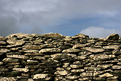 IRELAND KERRY DINGLE 3NOV05 - Detail of stone wall at Dunbeg on the Dingle Peninsula, Irelands most westerly county...jre/Photo by Jiri Rezac..© Jiri Rezac 2005..Contact: +44 (0) 7050 110 417.Mobile: +44 (0) 7801 337 683.Office: +44 (0) 20 8968 9635..Email: jiri@jirirezac.com.Web: www.jirirezac.com..© All images Jiri Rezac 2005 - All rights reserved.