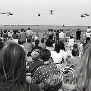 NLD/Huizen/19930605 - Waterspektakel Huizen 1993, demonstratie Alouette helicopter demonstratieteam koninklijke Luchtmacht