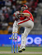 Rishi Dhawan of the Kings X1 Punjab bats during match 15 of the Pepsi Indian Premier League 2014 Season between The Kings XI Punjab and the Kolkata Knight Riders held at the Sheikh Zayed Stadium, Abu Dhabi, United Arab Emirates on the 26th April 2014<br /> <br /> Photo by Pal Pillai / IPL / SPORTZPICS