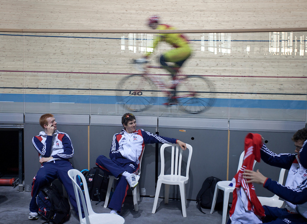 Great Britain track pursuit team training in Mallorca, January 2012