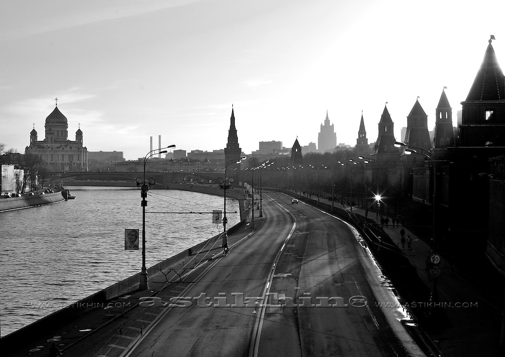 Kremlin Wall, Kremlin towers, Moscow Russia