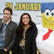 NLD/Amsterdam/20150125 - Premiere Spongebob in 3D - Sponge op het Droge, Ricardo Blij en Tara Hetharia