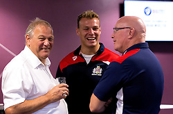 Mitch Eadie of Bristol Rugby chats after the talk from Kriss Akabusi at The Bristol Sport Big Breakfast - Mandatory by-line: Robbie Stephenson/JMP - 29/07/2016 - FOOTBALL - Ashton Gate - Bristol, England - Bristol Sport Big Breakfast - Kriss Akabusi