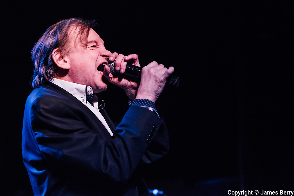 The Fall perform on the second of a four night residency live at the Garage, London, on Tuesday 26 April 2016. Picture shows Mark E Smith.