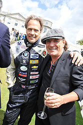Left to right, the EARL OF MARCH & KINRARA and singer BRIAN JOHNSON at a luncheon hosted by Cartier for their sponsorship of the Style et Luxe part of the Goodwood Festival of Speed at Goodwood House, West Sussex on 1st July 2012.