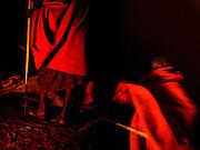 TANZANIA. Gols Mountains. August 10th 2009..Maasai men