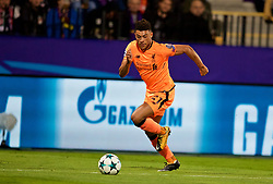 MARIBOR, SLOVENIA - Tuesday, October 17, 2017: Liverpool's Alex Oxlade-Chamberlain during the UEFA Champions League Group E match between NK Maribor and Liverpool at the Stadion Ljudski vrt. (Pic by David Rawcliffe/Propaganda)