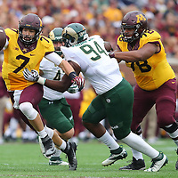 MINNEAPOLIS, MN - SEPTEMBER 24: Mitch Leidner #7 of the Minnesota Golden Gophers runs the ball for a gain in the first quarter against the Colorado State Rams at TCF Bank Stadium on September 24, 2016 in Minneapolis, Minnesota. (Photo by Adam Bettcher/Getty Images) *** Local Caption *** Mitch Leidner