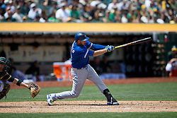 OAKLAND, CA - JULY 23:  Chris Colabello #15 of the Toronto Blue Jays at bat against the Oakland Athletics during the sixth inning at O.co Coliseum on July 23, 2015 in Oakland, California. The Toronto Blue Jays defeated the Oakland Athletics 5-2. (Photo by Jason O. Watson/Getty Images) *** Local Caption *** Chris Colabello