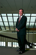 9/21/06 Omaha NE  Managing Director of Finance for TD Ameritrade Bill Gerber in the lobby of  TD Ameritrade corporate headquarters in Omaha, Neb Thursday morning..(Chris Machian/for Financial Week)