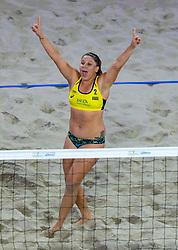 06-01-2019 NED: Dela Beach Open, Den Haag<br /> Brazil Ana Patricia Silva Ramos #1 BRA/ Rebecca Cavalcanti Barbosa Silva #2 BRA win the bronze medal /