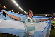 Rugby World Cup, France v Argentina, 19 October 2007. Horacio Agulla celebrates at the Parc des Princes, Paris, France. Friday 19 October 2007. Photo: Ron Gaunt/Sportzpics.net