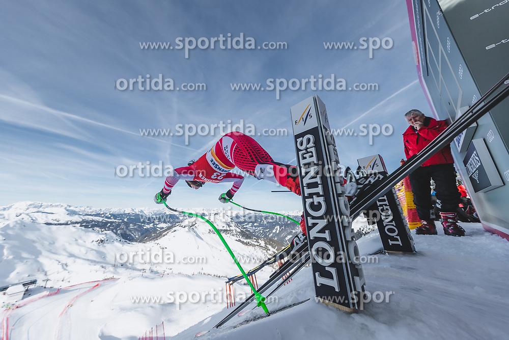 09.01.2020, Keelberloch Rennstrecke, Altenmark, AUT, FIS Weltcup Ski Alpin, Abfahrt, Damen, 1. Training, im Bild Ricarda Haaser (AUT) // Ricarda Haaser of Austria in action during her 1st training run for the women's Downhill of FIS ski alpine world cup at the Keelberloch Rennstrecke in Altenmark, Austria on 2020/01/09. EXPA Pictures © 2020, PhotoCredit: EXPA/ Johann Groder
