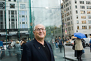 Dieter Esch, President of Wilhelmina Models, New York City, and leader of the new USA Team Handball Federation, on 5th Avenue in Manhattan, New York City...Dieter Esch ist der Praesident von Wilhelmina Models, New York, und leitet die USA Handball Vereinigung...Foto © Stefan Falke