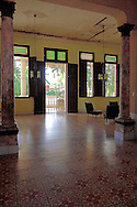 Hotel lobby in San Diego de los Banos, Pinar del Rio, Cuba.