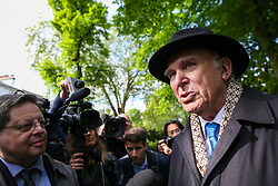 © Licensed to London News Pictures. 10/05/2019. London, UK. Leader of Liberal Democrats, Vince Cable, speaking with media in Camden, north London beforethe Liberal Democrats European Union election campaign. Britain must hold European Parliament elections on 23rd May 2019 or leave the European Union with no deal on 1st June 2019 after Brexit was delayed until 31st October 2019, as Prime Minister, Theresa May failed to get her Brexit deal approved by Parliament. Photo credit: Dinendra Haria/LNP