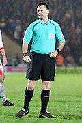 The Referee Eddie Ilderton during the EFL Sky Bet League 1 match between Doncaster Rovers and Blackburn Rovers at the Keepmoat Stadium, Doncaster, England on 24 April 2018. Picture by Mick Atkins.