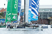 JP Morgan BAR, day three of the Cardiff Extreme Sailing Series Regatta. 24/8/2014