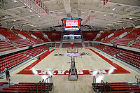 The bright and shiny (and air conditioned) newly refurbished Reynolds Coliseum.