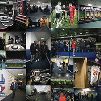 Montage of pictures of the Bolton Wanderers v Liverpool game held at the Macron Stadium Bolton.