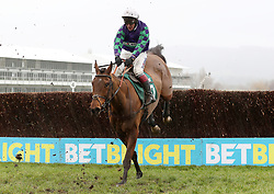 War Sound ridden by Richard Johnson in the Spectra Cyber Security Solutions Trophy Handicap Chase during Festival Trials Day at Cheltenham Racecourse.