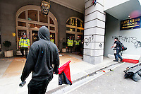 Rioting  outside Ritz Hotel during March for the Alternative anti-cuts protest