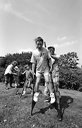 Vicky Wilson, Kellingley. 1992 Yorkshire Miners Gala, Barnsley.