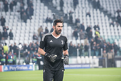 November 22, 2017 - Turin, Piemonte/Torino, Italy - Giangluigi Buffon (Juventus FC) during the Champions League mathc: Juventus FC vs Barcellona FC at the Juventus Stadium. The final scorre is 0-0 Turin, Italy 22th November 2017  (Credit Image: © Alberto Gandolfo/Pacific Press via ZUMA Wire)