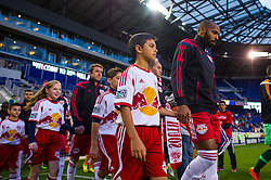 HARRISON, NJ - APRIL 23:  Thierry Henry #14 of New York Red Bulls walks on to the pitch before the game against the Houston Dynamo at Red Bulls Arena on April 23, 2014. (Photo By: Rob Tringali)