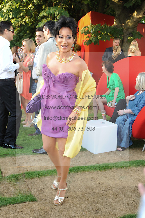 NANCY DELL'OLIO at the annual Serpentine Gallery Summer party this year sponsored by Jaguar held at the Serpentine Gallery, Kensington Gardens, London on 8th July 2010.  2010 marks the 40th anniversary of the Serpentine Gallery and the 10th Pavilion.
