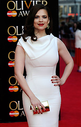 Hayley Atwell attends The Laurence Olivier Awards at the Royal Opera House, London, United Kingdom. Sunday, 13th April 2014. Picture by i-Images