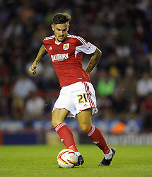 Bristol City's Marlon Pack  - Photo mandatory by-line: Joe Meredith/JMP - Tel: Mobile: 07966 386802 04/09/2013 - SPORT - FOOTBALL -  Ashton Gate - Bristol - Bristol City V Bristol Rovers - Johnstone Paint Trophy - First Round - Bristol Derby