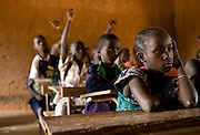 Children attend class at the Kabiline I Primary school in the village of Kabiline, Senegal on Wednesday June 13, 2007.