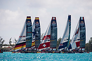 The Great Sound, Bermuda, 21st June 2017, Red Bull Youth America's Cup Finals. Start of race five.