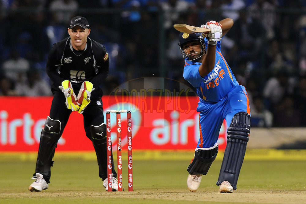 Rohit Sharma of India bats during the 4th ODI ( One day international ) between  India and New Zealand held at the M Chinnaswamy Stadium in Bengaluru, Bangalore, Karnataka, India on the 7 th December 2010..Photo by Pal Pillai/BCCI/SPORTZPICS